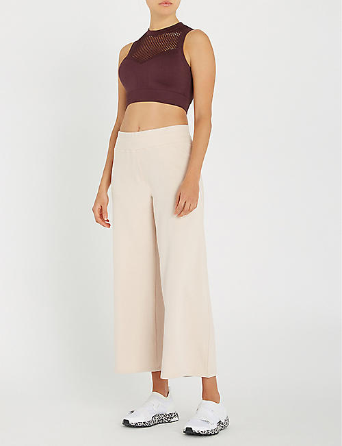 VARLEY Navarro high-rise wide-leg stretch-jersey jogging bottoms