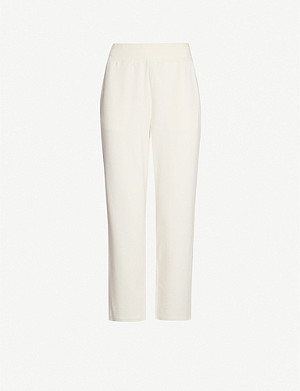 VARLEY Catherine cropped cotton-blend jogging bottoms