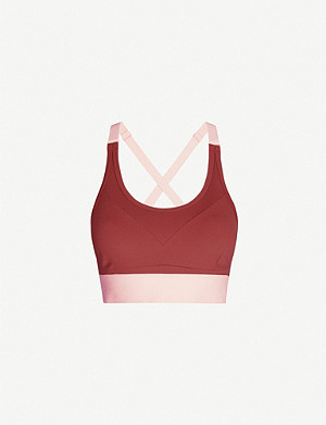 VARLEY Baird colour-block jersey sports bra