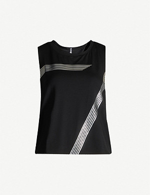 ULTRACOR Meta racerback sleeveless stretch-jersey top