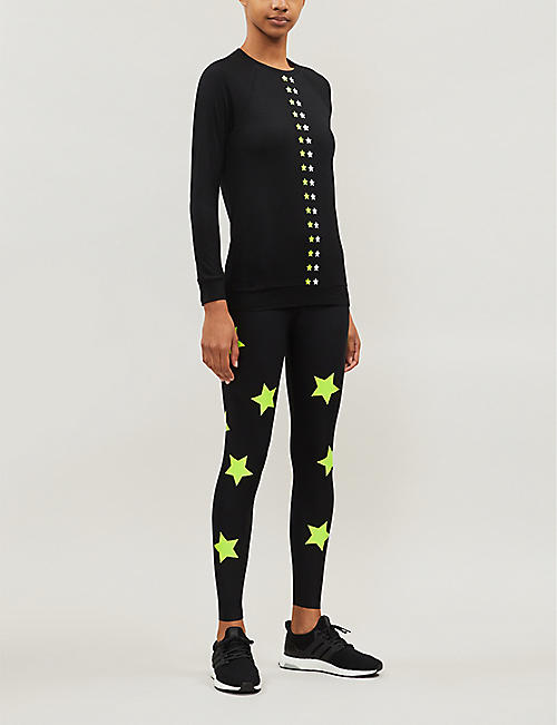 ULTRACOR Flash Ko star-print long-sleeved stretch-jersey top