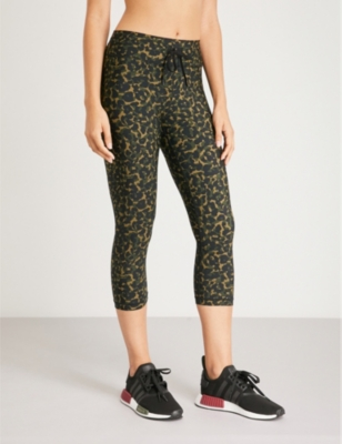 2c1bc30de3efa THE UPSIDE - NYC leopard camo-print stretch-jersey leggings   Selfridges.com
