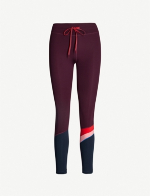 THE UPSIDE Maroon Retro high-rise stretch-jersey leggings