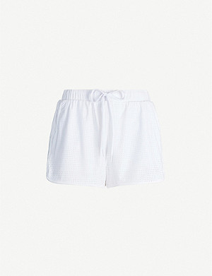 THE UPSIDE Track high-waisted mesh shorts