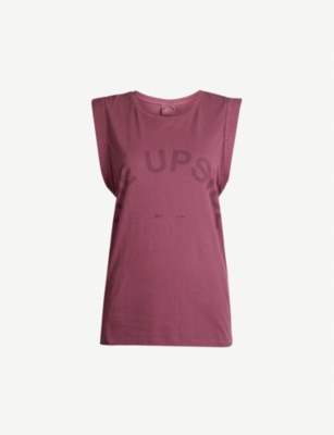 THE UPSIDE Vintage Muscle sleeveless cotton-jersey top