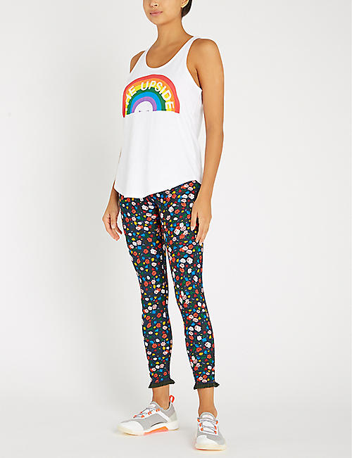THE UPSIDE Rainbow Issy sleeveless cotton-jersey top