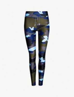 THE UPSIDE Abstract Camouflage stretch-jersey leggings