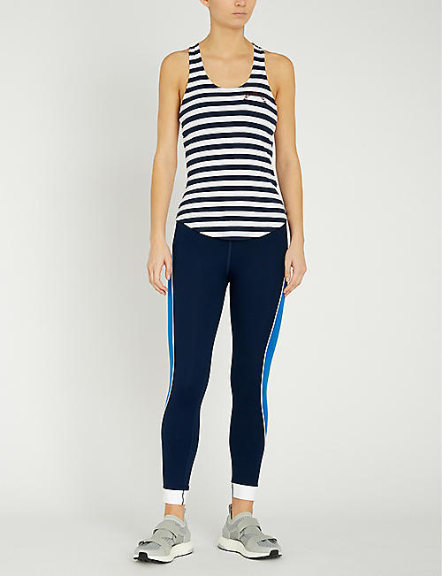 THE UPSIDE Faye striped stretch-cotton top