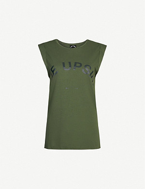 THE UPSIDE Issy logo-embossed cotton vest