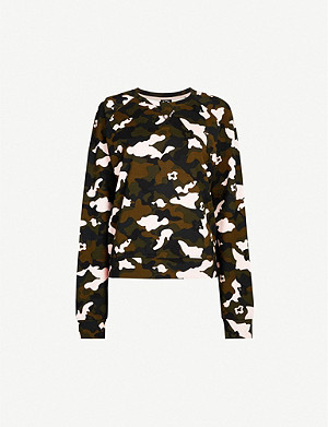 THE UPSIDE Bondi camo-print stretch-jersey sweatshirt