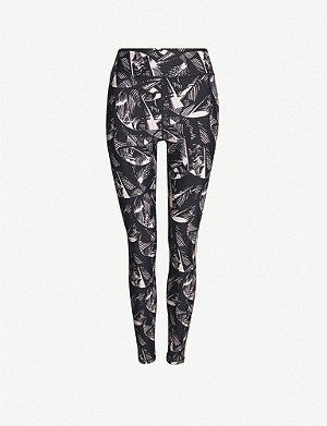 THE UPSIDE Japanese Forest stretch-jersey leggings
