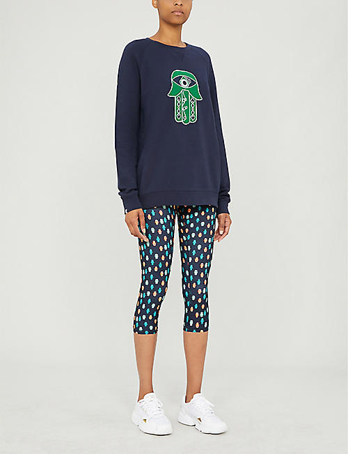 THE UPSIDE The Evil Eye embroidered cotton sweatshirt