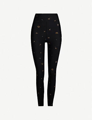 THE UPSIDE Ditsy floral-print stretch-jersey leggings