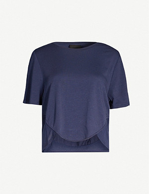 THE UPSIDE Sofia Dri Release cropped stretch-jersey T-shirt