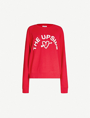 THE UPSIDE Logo-print cotton-jersey sweatshirt