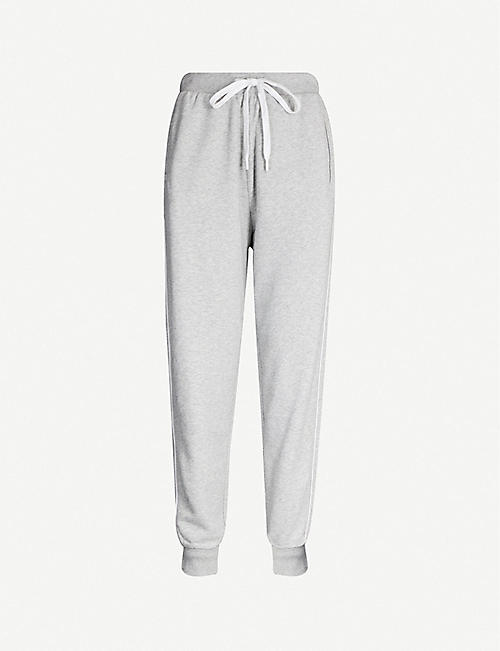 THE UPSIDE Logo-embroidered cotton-jersey jogging bottoms