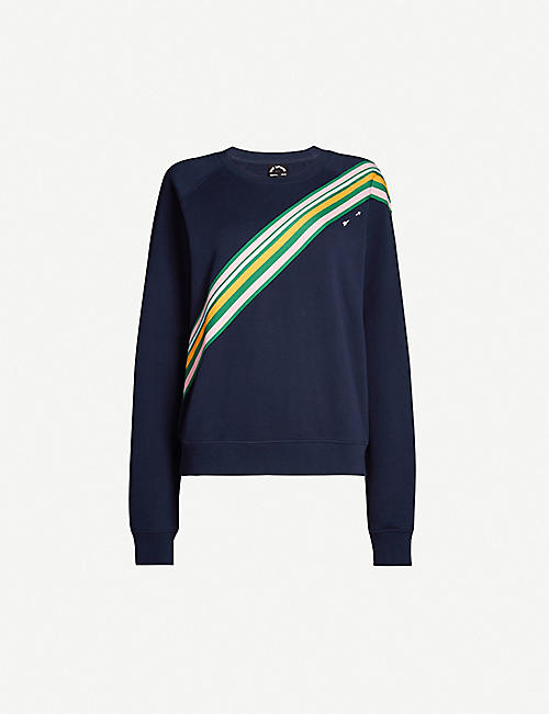 THE UPSIDE Club Bondi stripe-panel cotton-knit sweatshirt