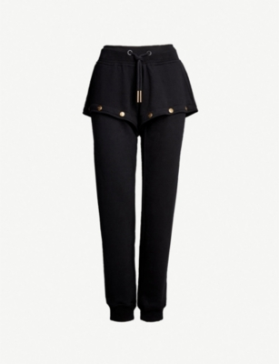 IVY PARK Popper-fastened cotton-jersey jogging bottoms