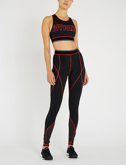 IVY PARK Logo-print stretch-jersey sports bra
