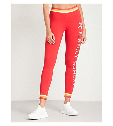 Perfect Moment RACE STRIPES STRETCH-LEGGINGS
