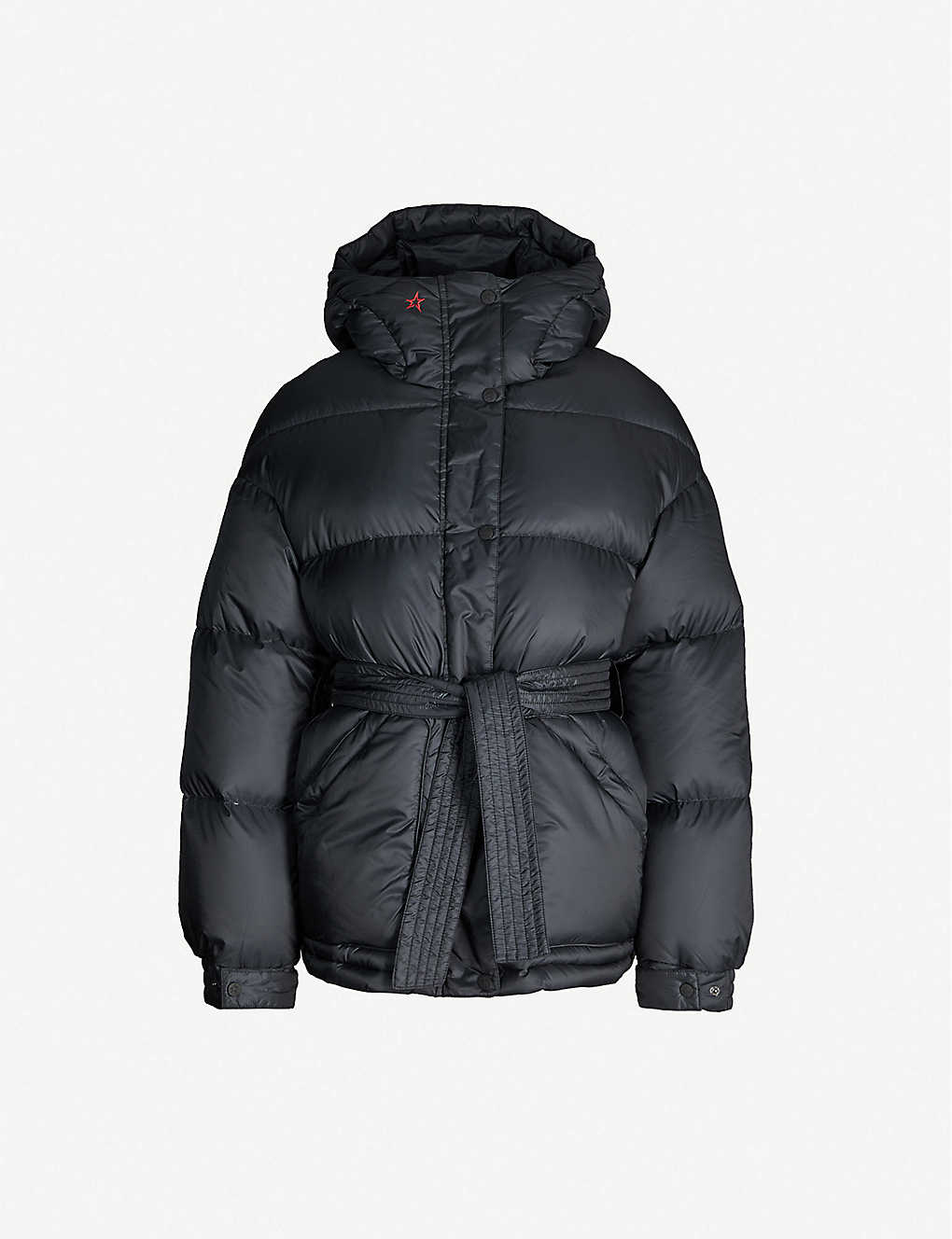 PERFECT MOMENT: Belted shell-down parka ski jacket