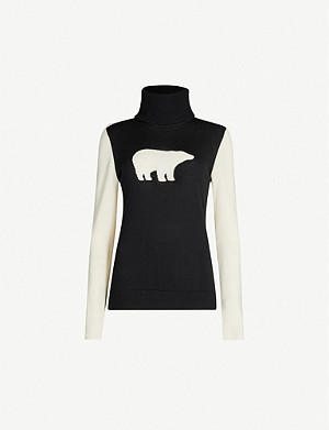 PERFECT MOMENT Bear merino-wool turtleneck jumper