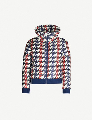 PERFECT MOMENT Queenie houndstooth shell ski jacket