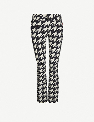 PERFECT MOMENT Aurora houndstooth flared shell ski trousers