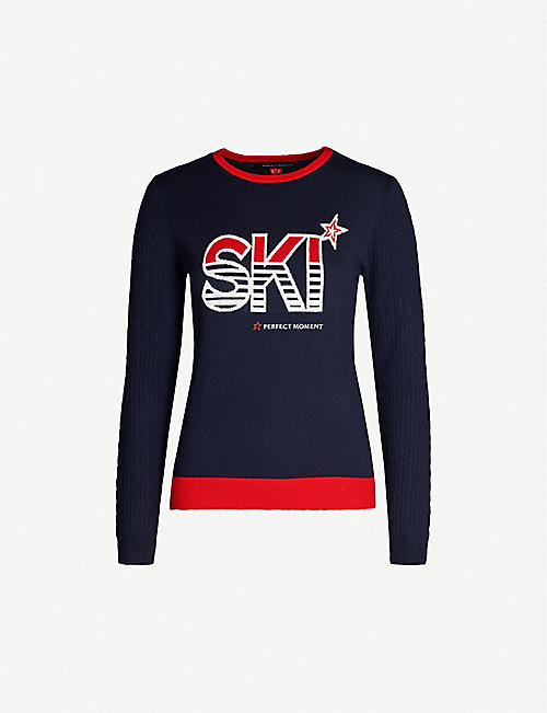 PERFECT MOMENT Ski-intarsia merino-wool jumper