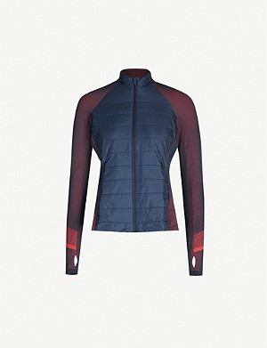 LNDR Buzz quilted shell-panelled colour-blocked stretch-jersey jacket