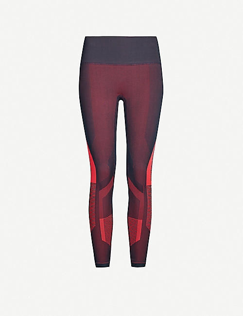 LNDR Cosmos high-rise panelled stretch-jersey leggings