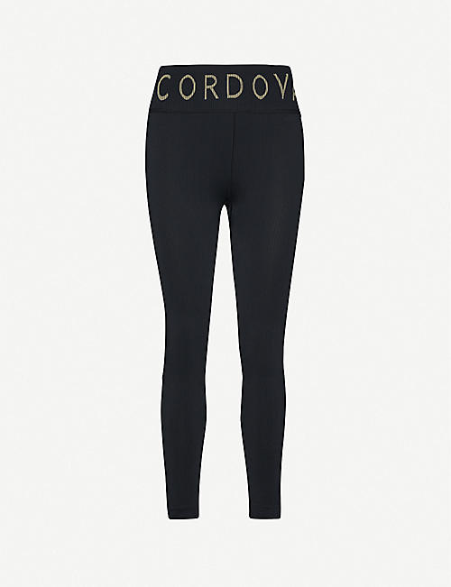 CORDOVA Logo-print stretch-woven leggings
