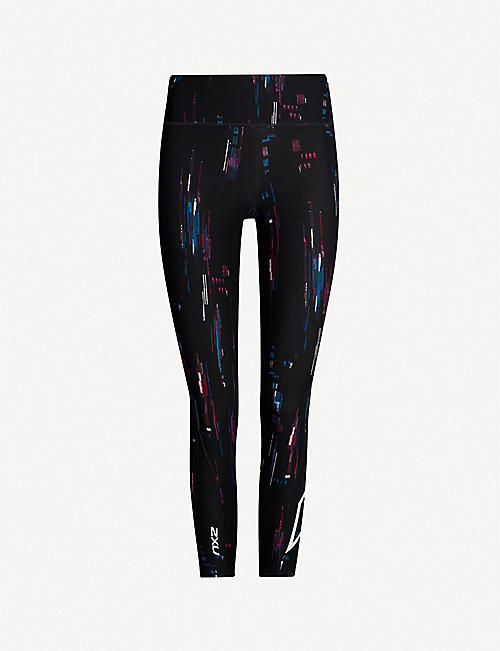2XU Graphic-print mid-rise compression leggings