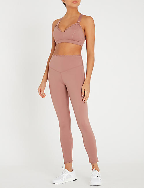 LURV I'm on Clouds scalloped-detail stretch-jersey leggings