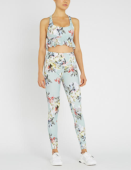 LURV Lily floral-print high-rise stretch-jersey leggings