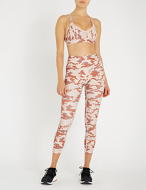 LURV Army of Love high-rise camouflage-print stretch-jersey leggings