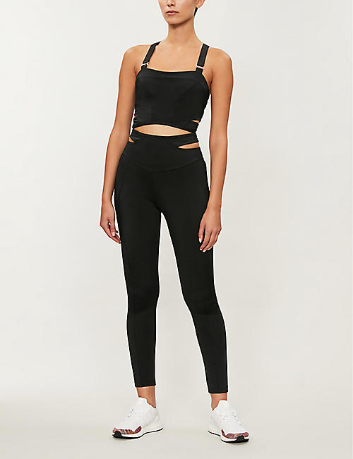 LURV Secret Mission stretch-jersey sports bra