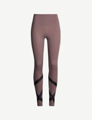 LURV Tie Me Over high-rise stretch-jersey leggings