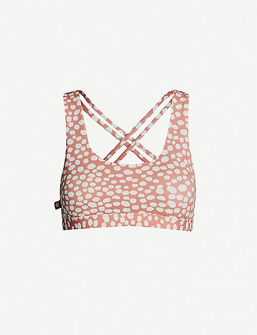 LURV Playful Purpose spot-print stretch-jersey bra