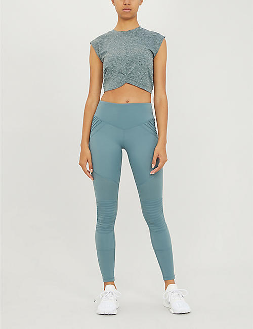 LURV Cropped stretch-jersey top