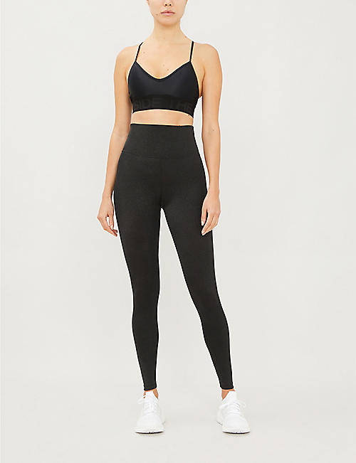 BEACH RIOT Glittery high-rise stretch-jersey leggings