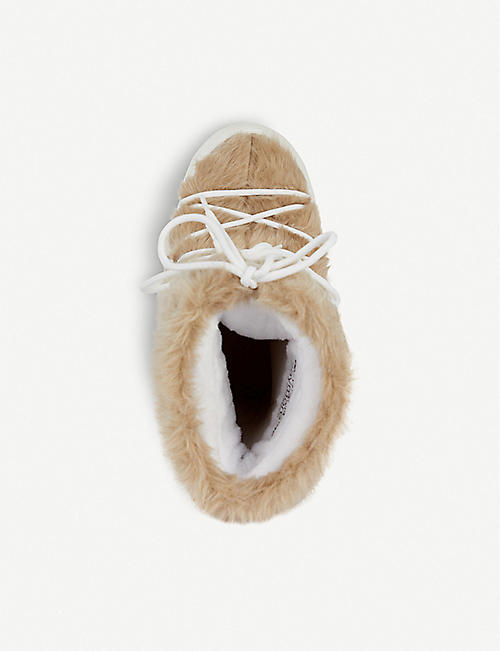 MOON BOOT Faux fur-trimmed snow boots