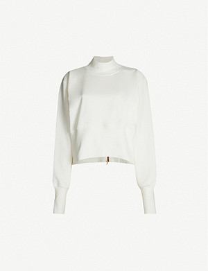 VAARA Gaia stretch cotton-jersey sweatshirt