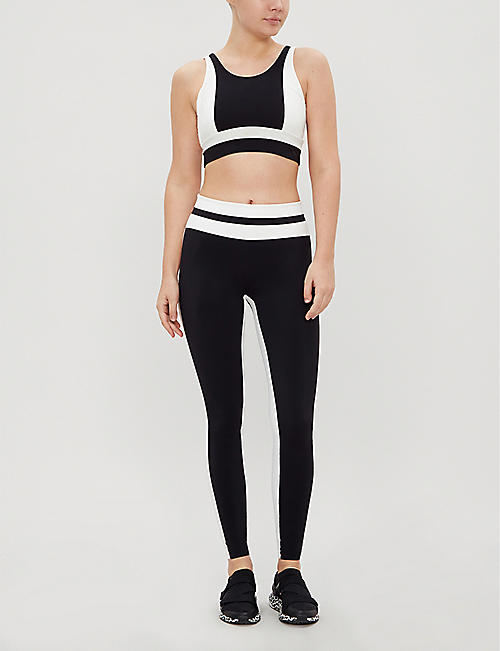 VAARA Poppy stretch-jersey crop top