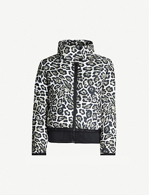 GOLDBERGH Lua leopard-print shell-down coat