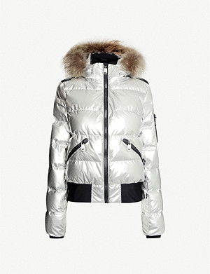 GOLDBERGH Aura metallic shell-down ski jacket