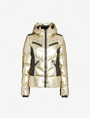 GOLDBERGH Fjal metallic faux-fur-trimmed shell-down ski jacket