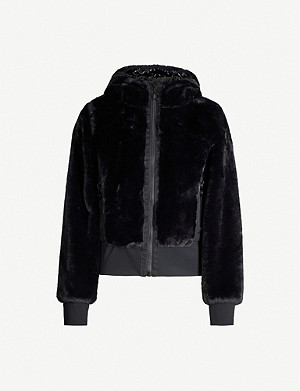 GOLDBERGH Sunna reversible faux-fur and shell jacket