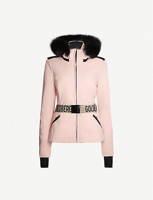 GOLDBERGH Hida faux-fur-trimmed shell-down ski jacket