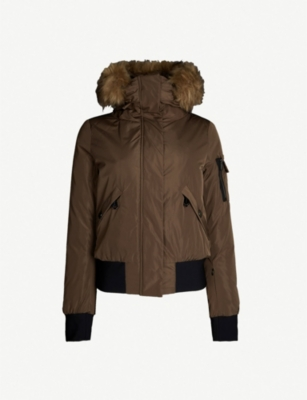 GOLDBERGH Bomba faux-fur and shell-down jacket